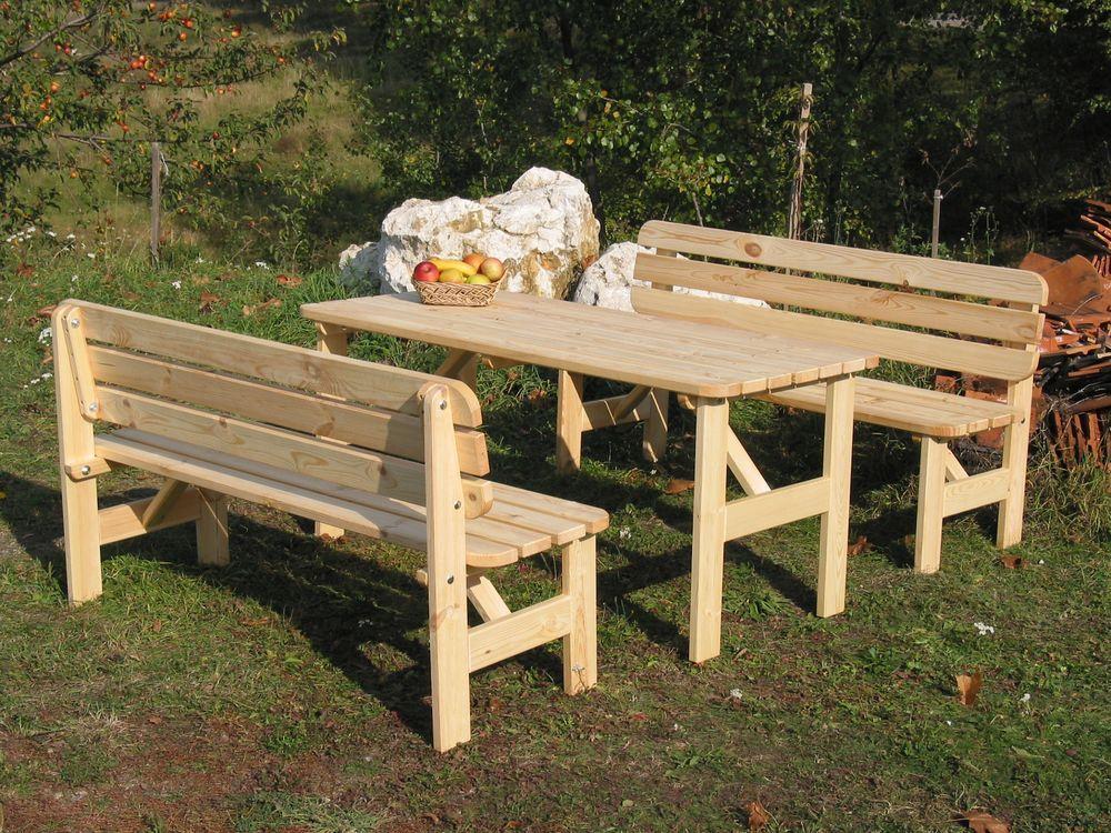 Venkovní lavice z masivního dřeva 150 cm, přírodní borovice