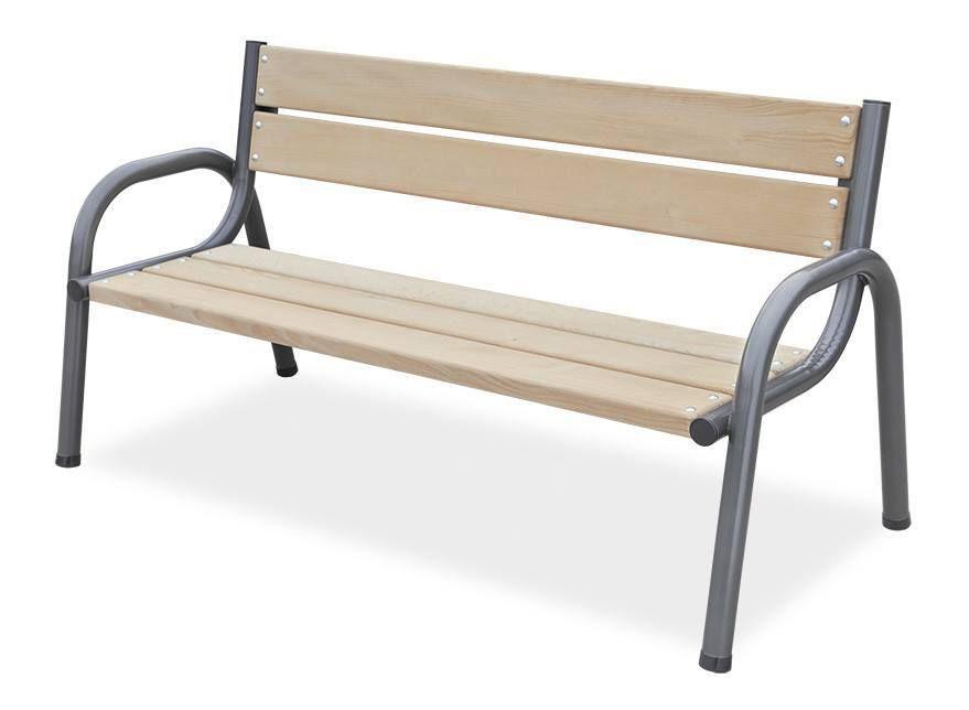 Bytelná zahradní / parková lavice 170 cm, kov / dřevo