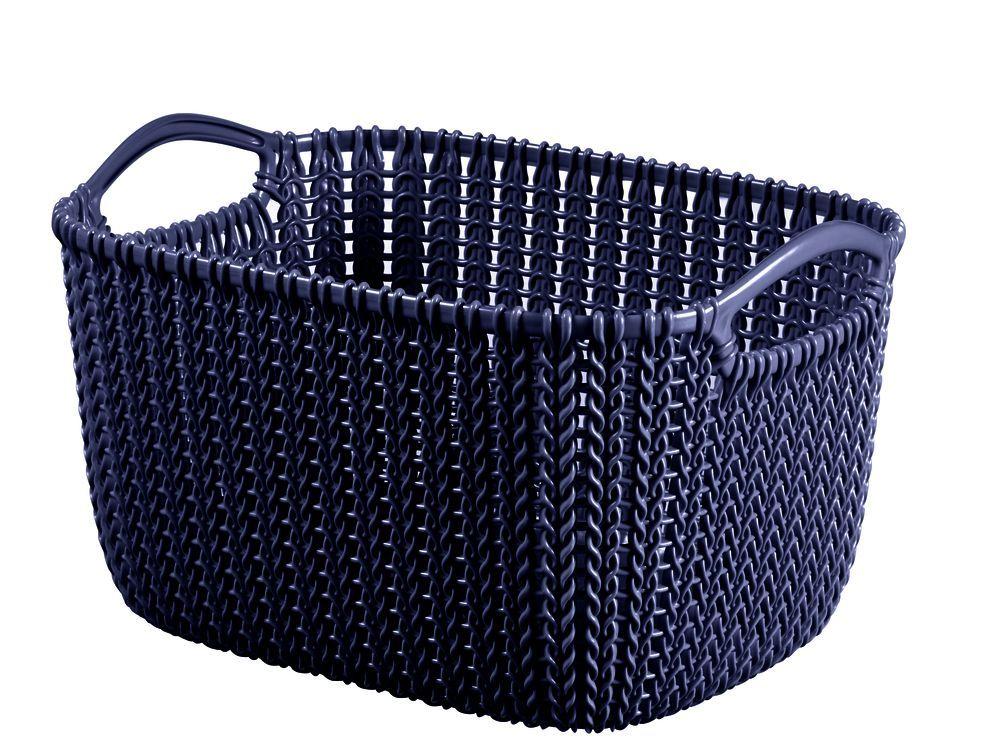 Okrasný plastový košík pro uložení drobností 8 l, fialový