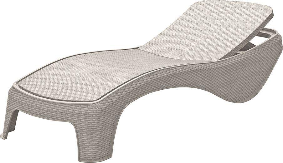 Luxusní polyratanové relaxační lehátko, bílé