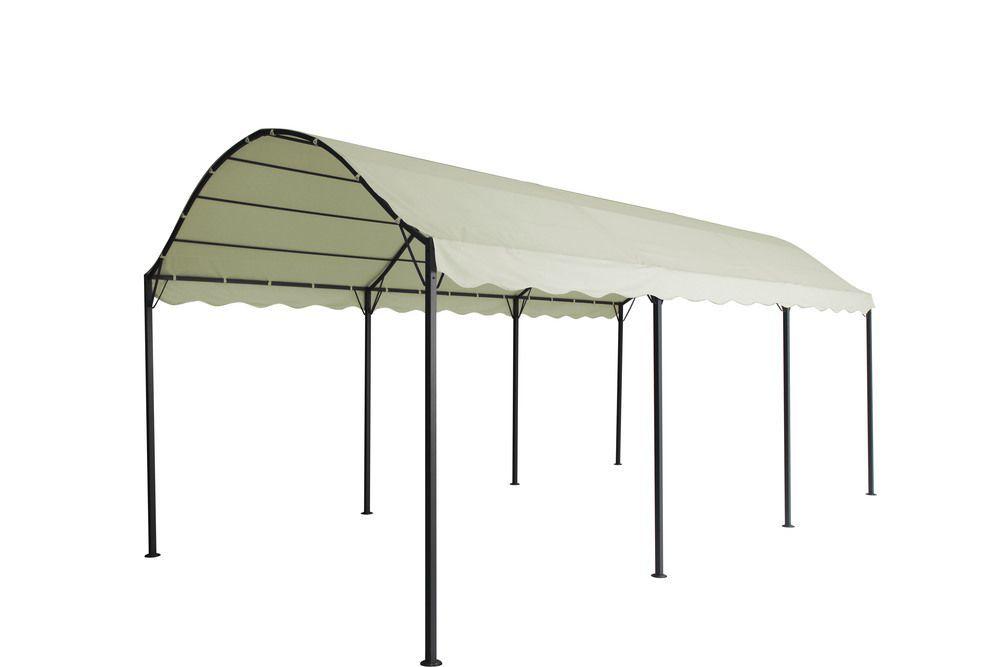 Obdélníkový zahradní altán s kovovou konstukcí 3x6 m, slonová kost