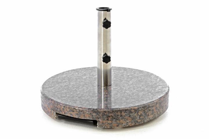 Kruhový stojan na slunečník, s madlem, světlá žula, 35 kg