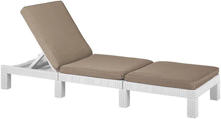 Relaxační lahátko k bazénu / na terasu / do welness, sklopné, bílé