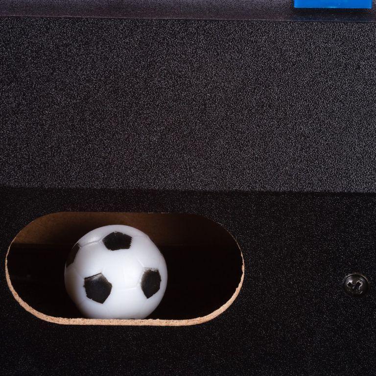 Malý přenosný stolní fotbálek, 51 x 31 x 8 cm, černý