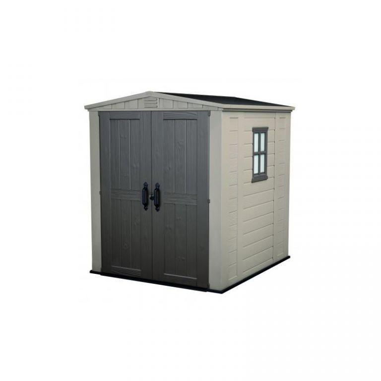 Plastový zahradní domek, dvoukřídlé dveře, 196x178x208 cm