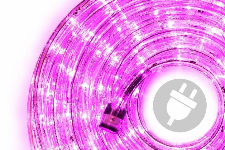 Světelný kabel venkovní / vnitřní, 240 LED, růžový, 10 m