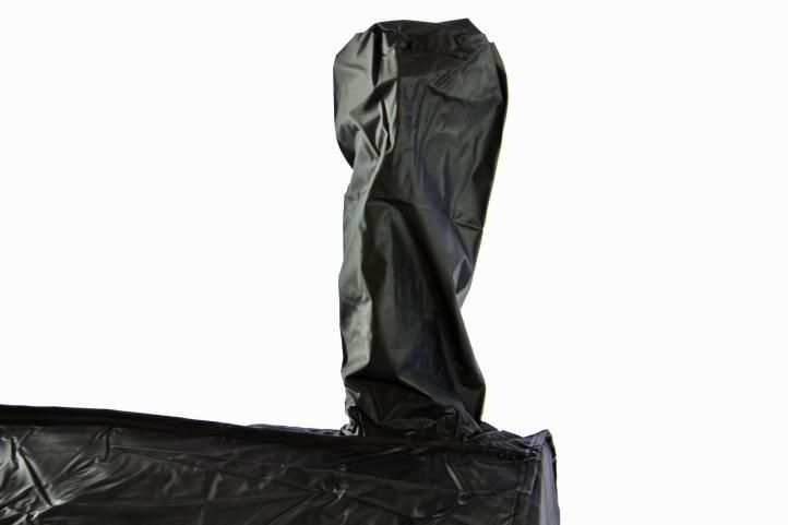 Ochranný obal pro zahradní grily, PVC, černý, 120x65x135 cm