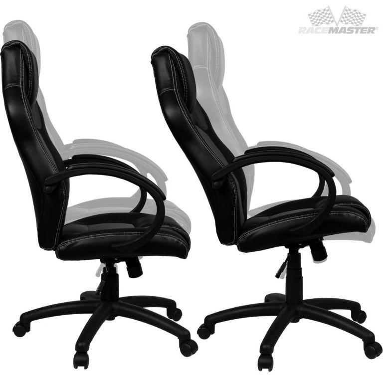 Kancelářská židle ve sportovním designu, EKO kůže, modrá