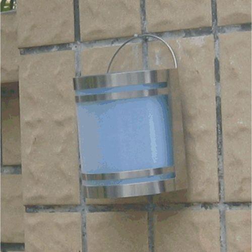 Nástěnná solární lampa, automatické rozsvěcení, nerez