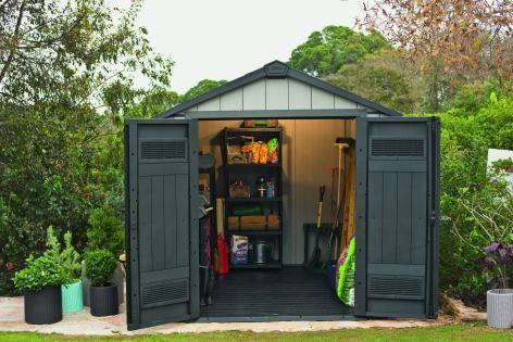 Zahradní domek na nářadí, plastový, 229x223x242 cm