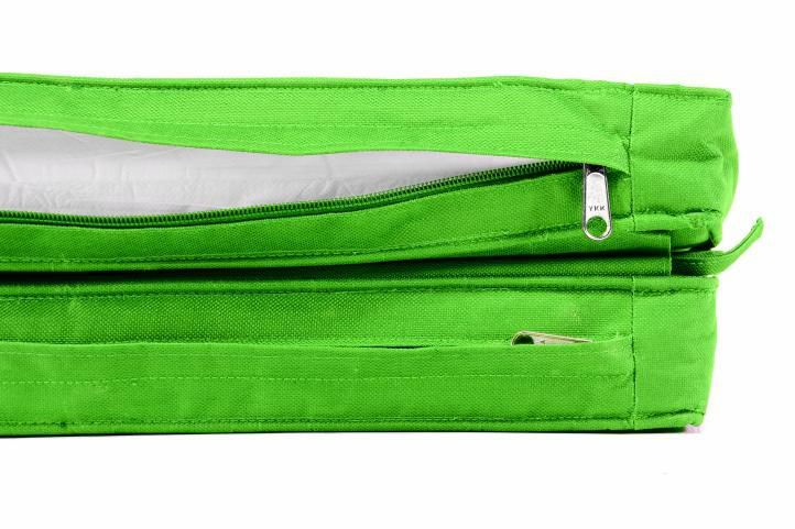 2 ks vysoké polstrování na lehátka, pratelný potah, světle zelené