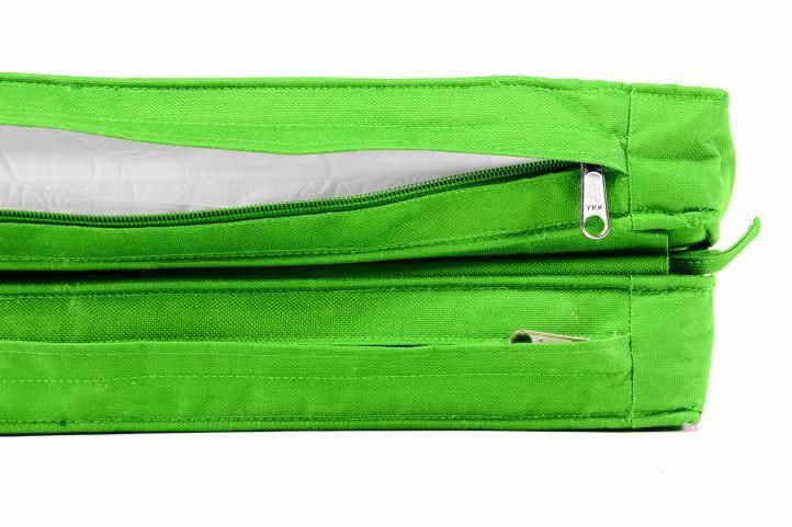 Vysoké polstrování na lehátka, pratelný potah, světle zelené