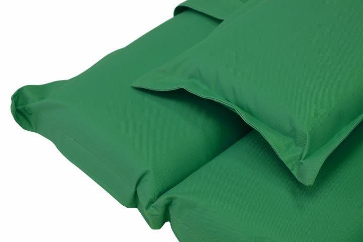 2 ks luxusní měkké polstrování na lehátka, pratelné, tmavě zelené