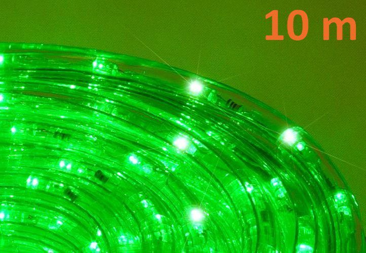 VoděodolnýLED světelný kabel venkovní / vnitřní, zelený, 10 m