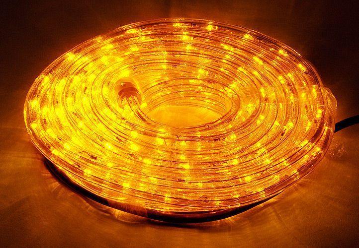 Voděodolný světelný kabel venkovní / vnitřní, LED, žlutý, 10 m