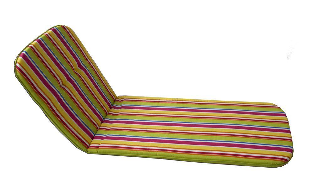 Polstrování pro zahradní lehátka, bavlna / polyester, barevné pruhy