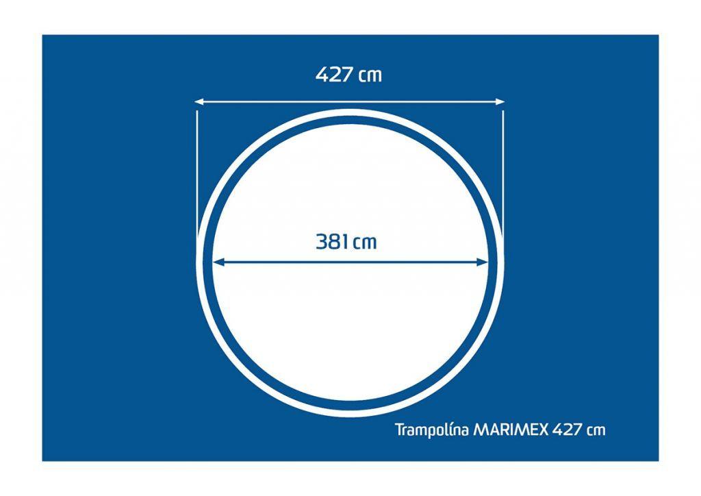 Velká trampolína s vnitřní bezpečnostní sítí, děti / dospělí, 427 cm, 150 kg