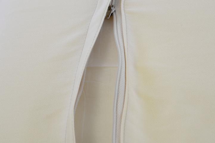 4 ks polstrování na židle / křesla, nízké opěradlo, potah na zip, krémové