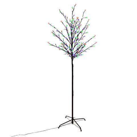 Velký umělý strom se svítícími koulemi, přepínání barev, 180 cm