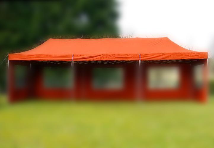 Samostatná střecha pro nůžkové stany 3x9 m, terakota