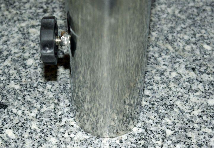 Těžký žulový stojan pod slunečník čtvercový, s kolečky, 40 kg