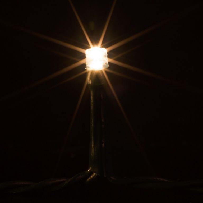 Světelný vánoční řetěz teple bílý, venkovní / vnitřní, 50 LED, 5 m