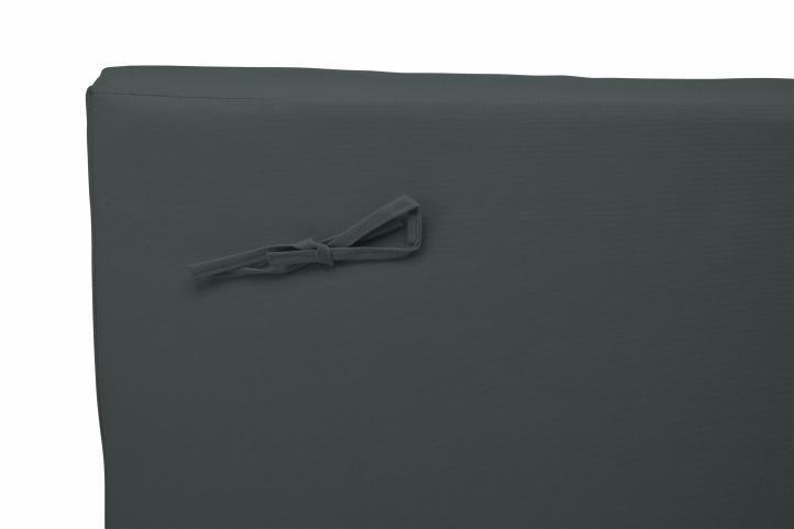Pratelný polstr s polštářkem na lehátka, antracit