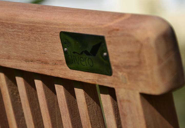 Skládací dřevěná zahradní židle z masivu- teakové dřevo