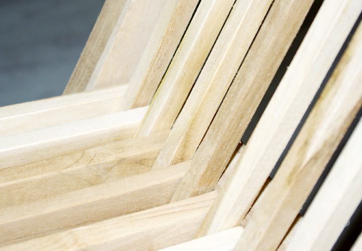 4 ks dřevěná skládací židle bez područek, teakové dřevo