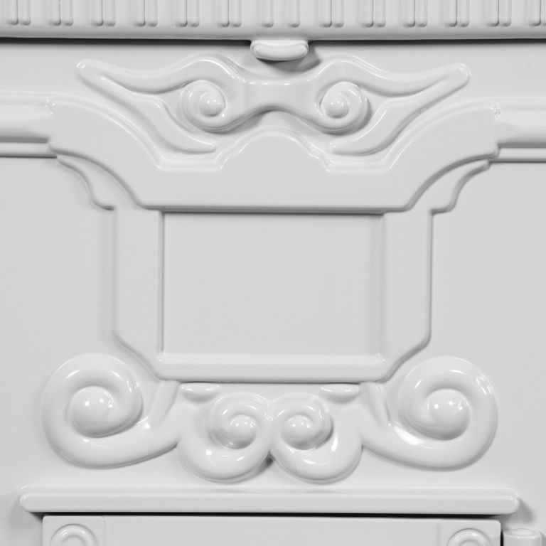 Poštovní schránka starožitná antik - bílá
