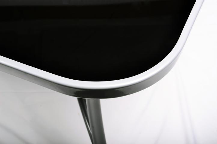 Kovový venkovní nábytek na terasu, stohovatelné židle, antracit