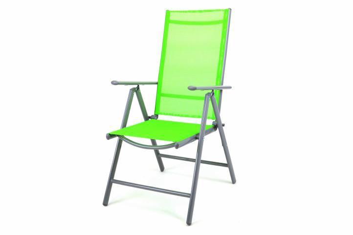 Elegantní hliníkový zahradní nábytek, stůl + 4 židle, zelený