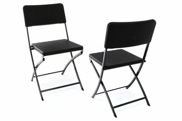 Skládací venkovní balkonový nábytek, kov / plast