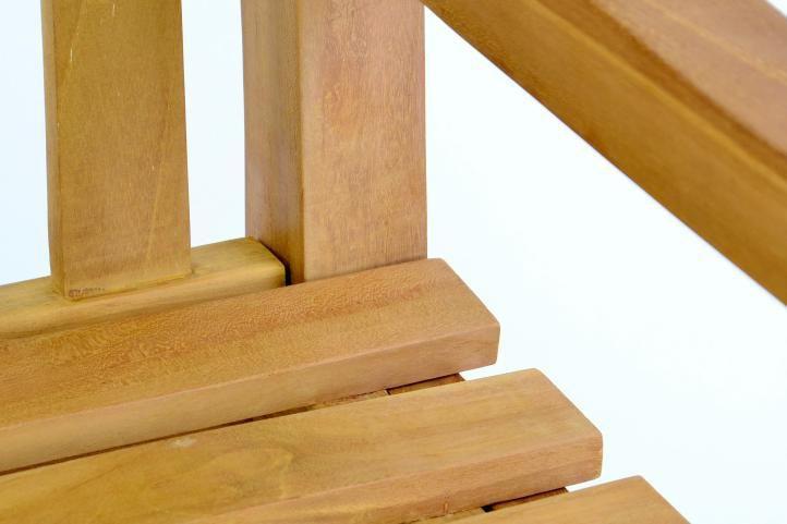 Dřevěná venkovní lavice, masivní teakové dřevo, 150 cm