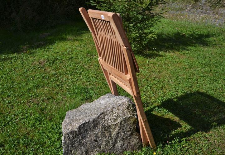 4 ks masivní skládací dřevěná židle s područkami, teakové dřevo