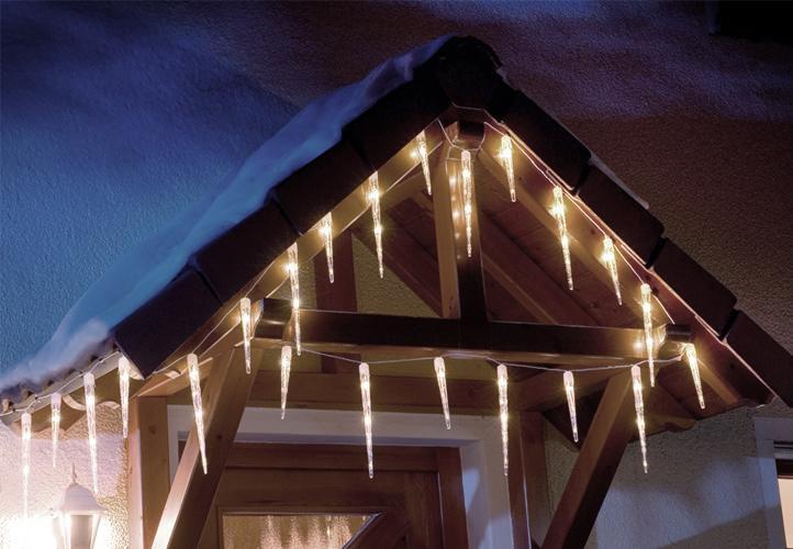Světelné rampouchy venkovní / vnitřní, 8 blikajících funkcí, 3 m