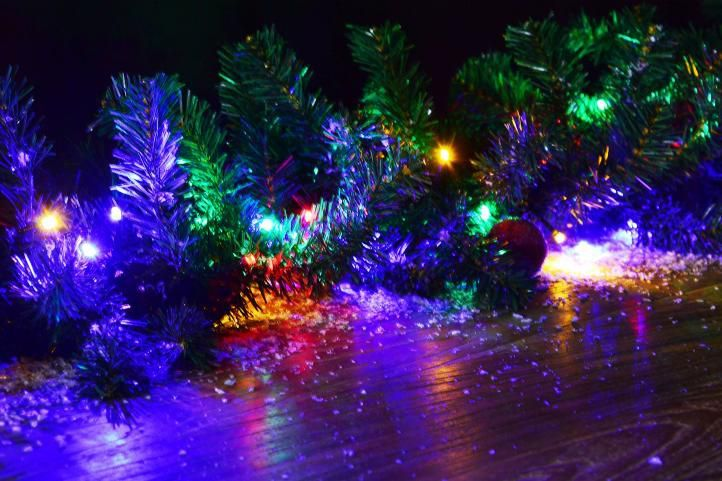 Svítící LED řetěz venkovní / vnitřní, přepínatelné funkce, 19,9 m