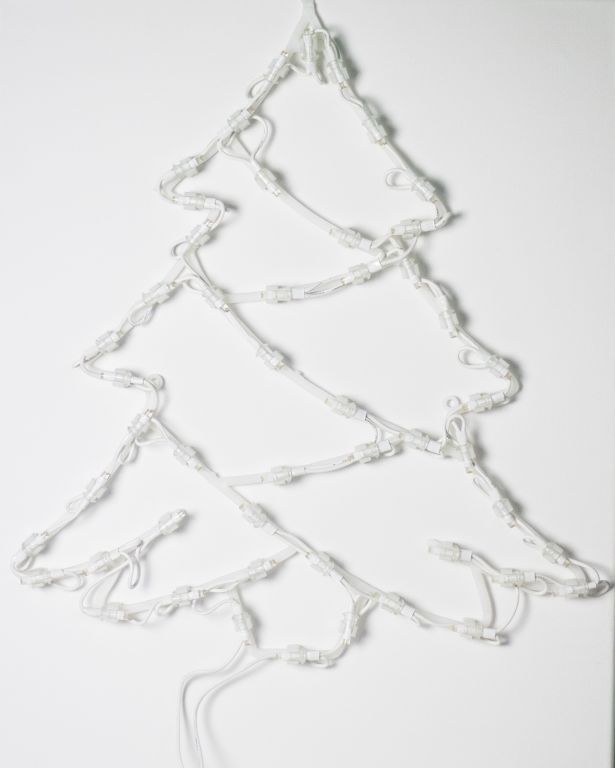Svítící vánoční stromeček k zavěšení do okna, 35 LED diod, 40 cm