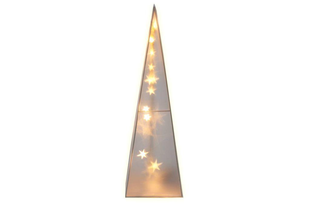 Vánoční svítící kužel do bytu, svítící hvězdy, 45 cm