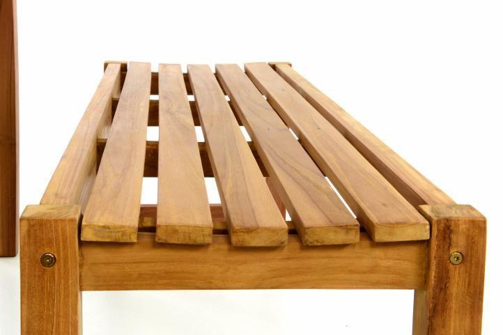 Masivní dřevěný pivní set stůl+ lavice, tvrdé teakové dřevo, 150 cm