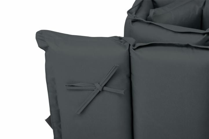 2 ks luxusní polstrování na zahradní křesla, potah na zip, antracit