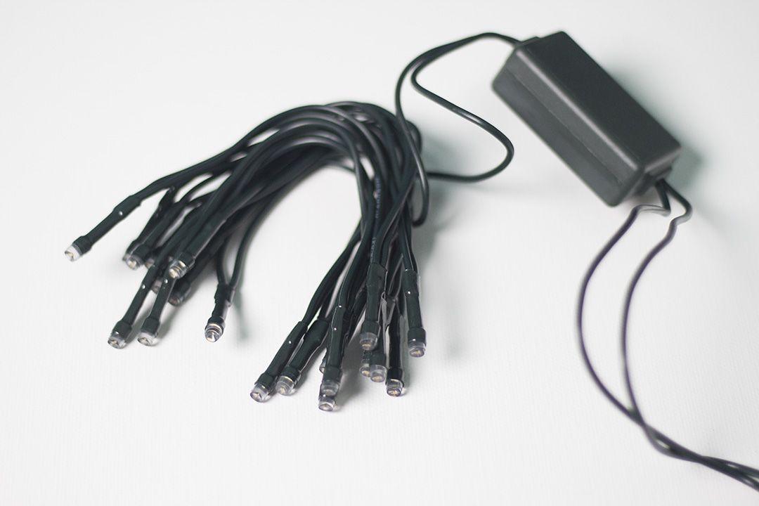 Kratší LED řetěz do zásuvky, vnitřní, teple bílý, 2,85 m