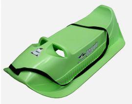 Plastové sáně pro menší děti, do 40 kg, zelené