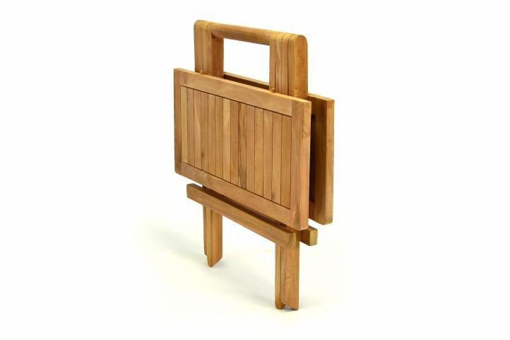 Menší čtvercový dřevěný stolek na balkon / terasu, 50x50 cm