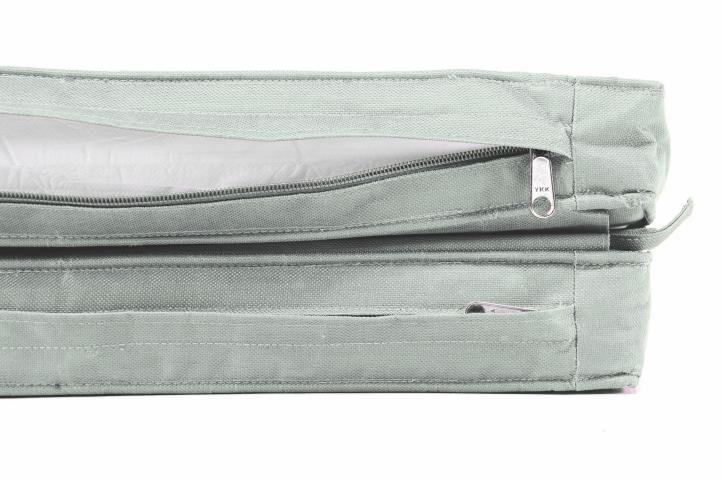 2 ks polstr na křesla / lehátka 2v1, odnímatelný nožní díl, světle šedý